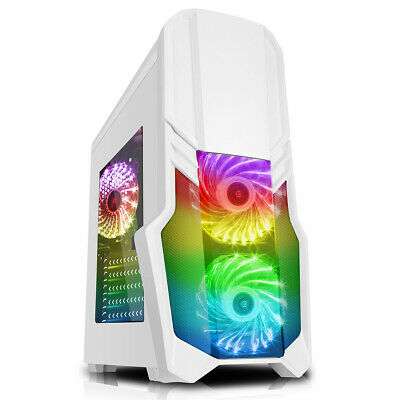 Gaming PC Computer Bundle Intel Quad Core i5 16GB 1TB Windows 10 2GB GT710 W/RED