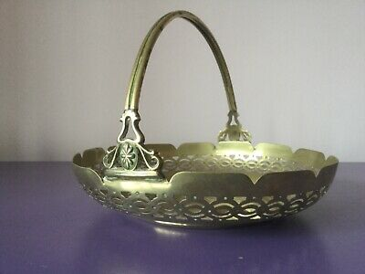 Pretty Silver Plate Plate. Basket. Cake. Sweets. Display. Flower Quality. Heavy