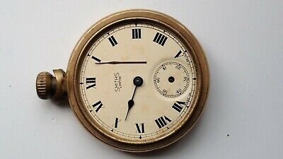 VINTAGE SMITHS EMPIRE GOLD TONE MANUAL WIND 53mm POCKET WATCH
