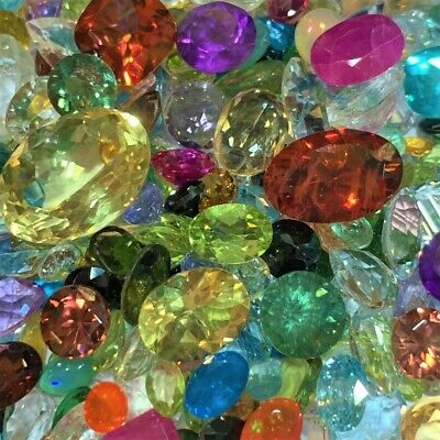 50+ Carats Mixed Natural Faceted Loose Gemstones Wholesale Parcel Lot Genuine