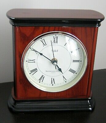 Stiffel Westminster Chime Quartz Lacquered Wood Mantle Clock