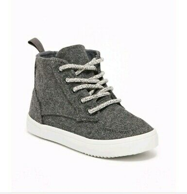 old navy wool-blend high-tops for toddler boys size 9