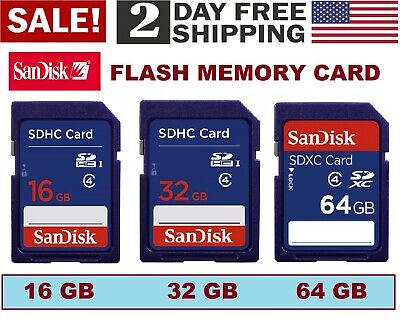 Flash Memory Sandisk Card Sdhc SD 16gb 32gb 64gb Class 4 Camera Ultra New Lot
