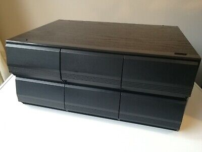Vintage Black Ash 6 Drawer Draw Cassette Tape Storage Unit Holds 72 Cassettes