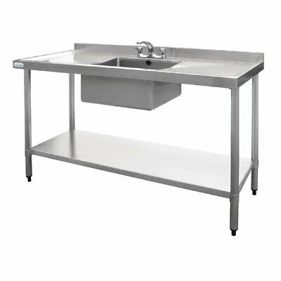 Vogue Single Bowl Sink Double Drainer - 1500mm x 700mm 90mm Drain HC918
