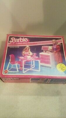 Rare Vintage Barbie Dream Furniture Collection Dining Center Excellent Condition