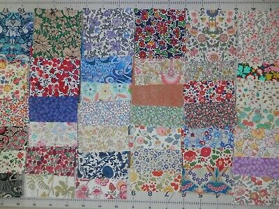 """40 3"""" LIBERTY TANA LAWN CHARM  fabric pack for patchwork/quilting"""
