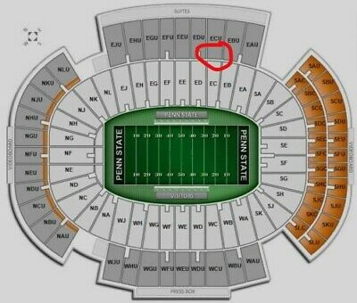 4 Penn State vs Idaho Football Tix 30 yd line with LOT 12 Parking pass