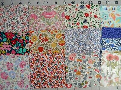 """50 4"""" LIBERTY TANA LAWN   fabric pack for patchwork/quilting"""