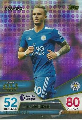 Topps Match Attax Ultimate 2018/19 PURPLE PARALLEL James Maddison #23/50