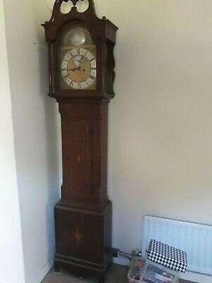 Antique English 18th Century Grandfather Longcase Clock James Gandy Cockermouth