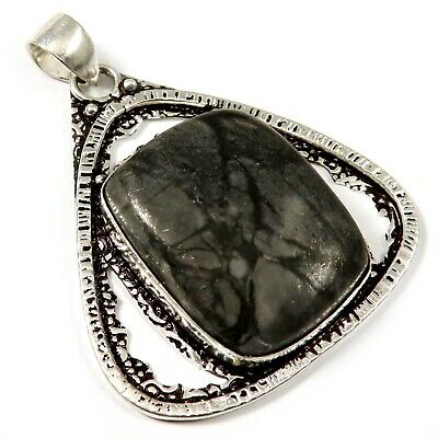 Natural Picasso Jasper Gemstone Pendant Silver Plated Jewelry GPP196