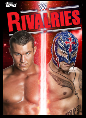TOPPS WWE SLAM CARD TRADER RIVALRIES WAVE 1 RANDY ORTON & REY MYSTERIO 250cc