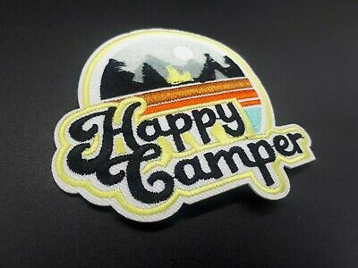 Parche Happy camper Patch Forest Mountain Nature Scout campista naturaleza