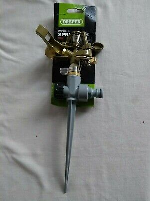 Draper Impulse Metal Lawn Sprinkler Garden Watering 25091