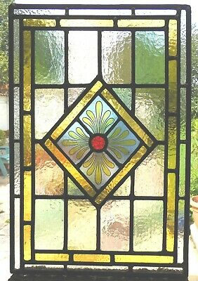 Stained Glass Panel With An Original Hand Painted Centrepiece - Ref Sg388