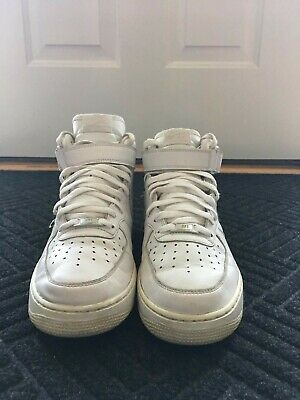 Shoes Top 1 Leather High White Force Size Nike Air Sneakers Men's 10 byYvf76g