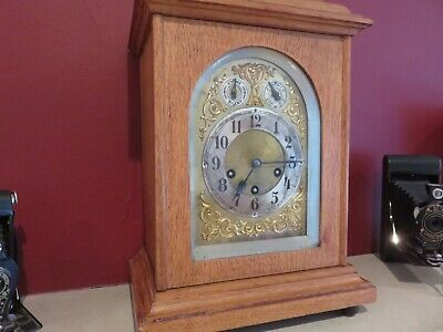 Antique German Junghans Striking Mantel Bracket Clock