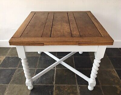 Antique Victorian Extending 4-6 Seater Draw Leaf Barley Twist Oak Dining Table