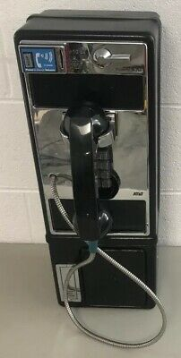 Vintage AT&T Black with Chrome Payphone Telephone