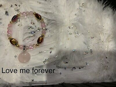 Code 544 Love Me Forever Circle Of Love Charged n Infused Bracelet Titanium Rose