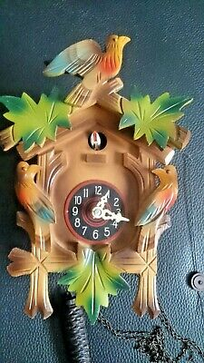 cuckoo clock spares repair complete needs TLC..