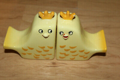 Vintage Holt Howard Yellow Chicken Chick Salt Pepper Shakers Japan 1960's