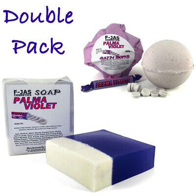 Parma Violets Scented Soap & Bath Bomb Double Gift Pack