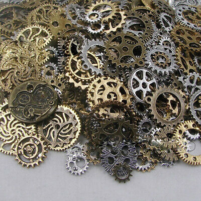 50g Vintage Jewelry Findings Watch Parts Art Crafts Cogs Gears Steampunk Punk