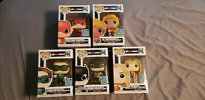 SDCC 2019 Shared Exclusive Funko Pop! Big Bang Theory Complete 5 Set +Protectors
