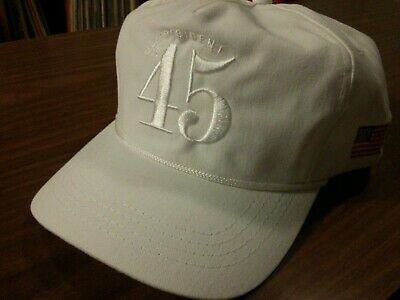 Official Trump Hat No. 45 President White Limited Never Worn Made in USA