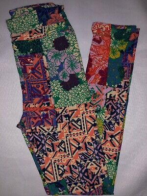 (BoxD) LuLaRoe Kids Leggings L/XL New Multicolor Aztec & Floral Mixed 8-12
