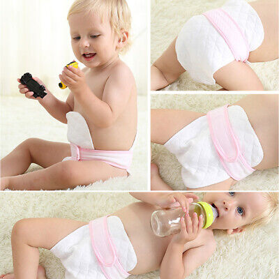 10pcs Lightweight Eco-friendly 3-Ply Cloth Diapers Portable White Prefold Baby