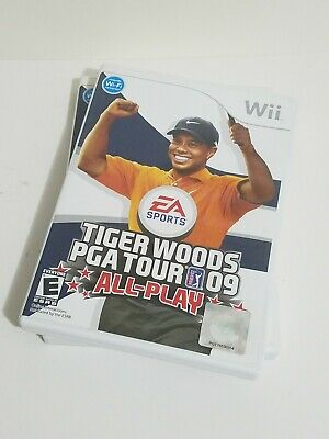 Tiger Woods PGA Tour 09: All-Play (Nintendo Wii, 2008) Video Game CIB Tested!