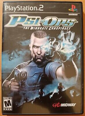 Psi-Ops: The Mindgate Conspiracy (Sony PlayStation 2, 2004) Complete TESTED PS2