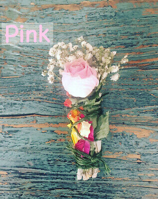 Sage Smudge Stick (White Sage and Pink Rose Smudge Stick)