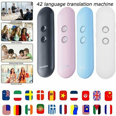 Portable AI Smart Voice Translator Two-Way Real Time 42-Languages Translation AU