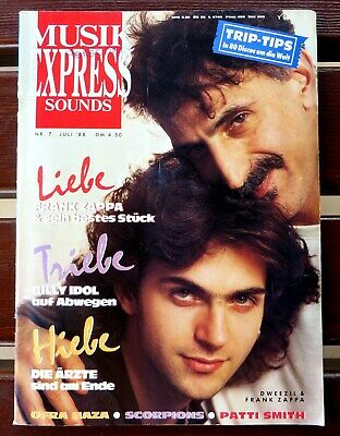 Musik Express Sounds 07/88 Cover:Dweezil & Frank Zappa,Herman Brood, Scporpions