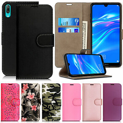 For Huawei Y6S Y7 2019 Book Case Leather Wallet Cover Slim Flip Protective Phone