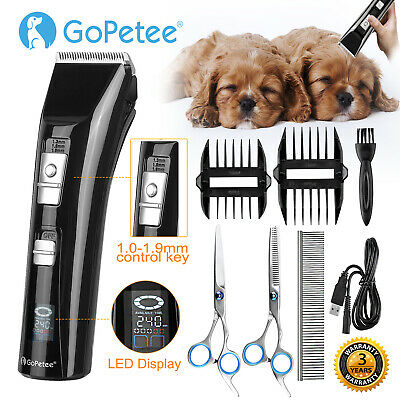 Electric Pet Dog Clippers Grooming Trimmer Cordless Dog Cat Hair Shaver Kit UK