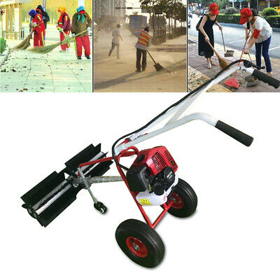 43CC Gas Power Hand Held Walk Behind Sweeper Broom Driveway Walkway Cleaning New