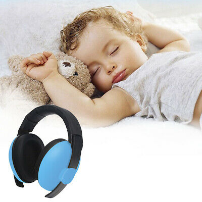 Adjustable Blue Hearing Protection Earmuffs Noise Reduction Travel Kids Children