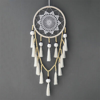 Handmade Large White Dream Catcher Native American Wall Hanging Decoration Gift
