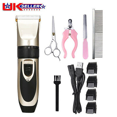 12pcs Pet Dog Clipper Grooming Trimmer Animal Hair Pro  Electric Shaver Kit Set