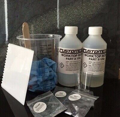 Epoxy Resin Worktop Complete Starter Kit Includes Resin Pigments Glitter & Tools