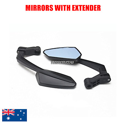 Motorcycle Scooter ATV Rearview Mirror For Honda /Yamaha /Suzuki /Kawasaki Black