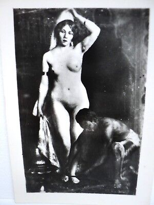 "PHOTO ANCIENNE TABLEAU EROTIQUE SALON DE PARIS H. BLAHAY ""LA FAVORITE"" c.1910"