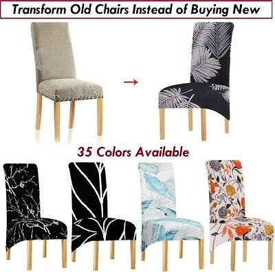 Stretch Spandex Polar fleece Dining Chair Covers Removable Thicken Protector