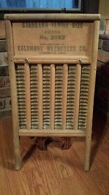 Antique Maid-Rite Standard Family Size No. 2062 Brass Washboard  Columbus OH