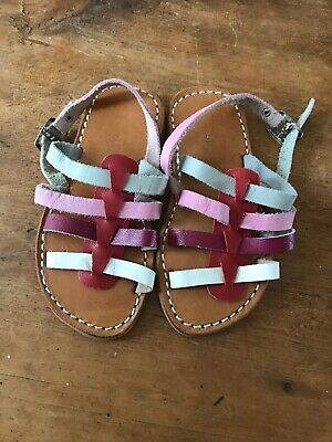 Girls H & M Multi Colour Leather Sandals Size 5 Infant New No No Tags